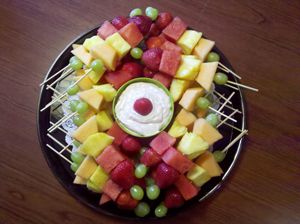 Fruit Skewers and dip