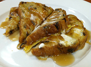 Shortstack of raisin french toast